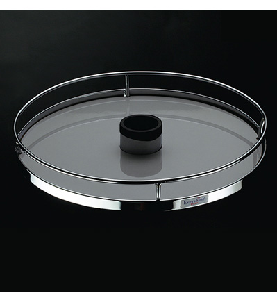 Center Rotating Round Tray (Wooden Base)