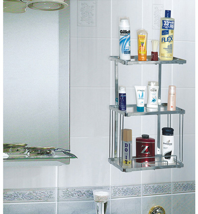 Three Shelf Bath Rack