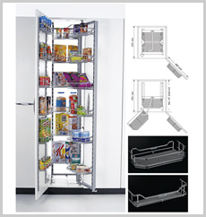 Pantry Unit - Single (Imported Frame 18 Baskets)