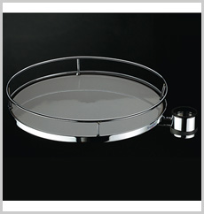 Round Rotating Tray (Wooden Base)