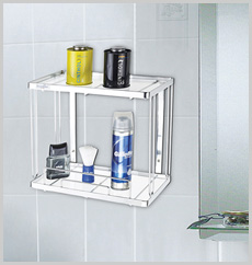Two Shelf Bath Rack